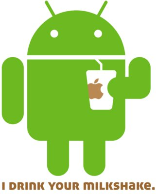 Android Logo: I drink your milkshake.