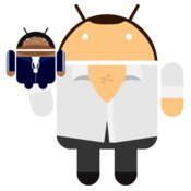 Android Logo: Gob and Franklin Droid